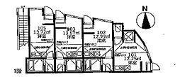 ユナイト 船越アンドリアノフ[1階]の間取り