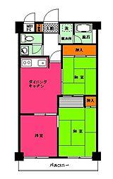 NICハイム横須賀中央第3[306号室]の間取り