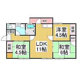 [一戸建] 長野県飯田市鼎一色 の賃貸【/】の間取り
