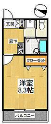 コンフォート狭山[2階]の間取り