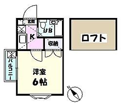 千葉県習志野市津田沼7丁目の賃貸アパートの間取り