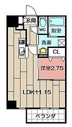 Studie TOBIHATA[9階]の間取り