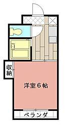 シャトレ境川II[305号室]の間取り