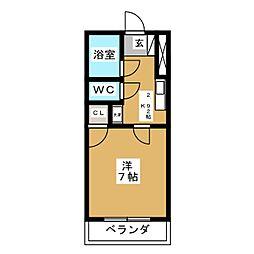 コーポ小松[4階]の間取り