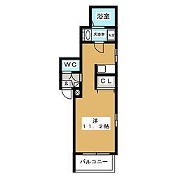 シャトー黒川[2階]の間取り
