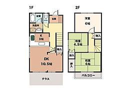 [タウンハウス] 兵庫県神戸市西区大津和2丁目 の賃貸【兵庫県 / 神戸市西区】の間取り