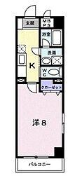 コルソ五反野[3階]の間取り