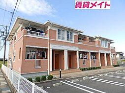 三重県松阪市中林町の賃貸アパートの外観