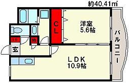M・ソレイユ21[4階]の間取り