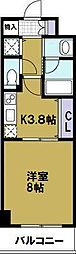 ロワジールクスノキ[2階]の間取り