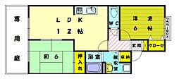 ルミエールハタ[2階]の間取り