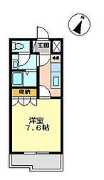 コートダジュールin桃ヶ丘B[206号室]の間取り