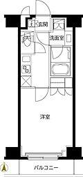 ルーブル東武練馬弐番館 5階1Kの間取り