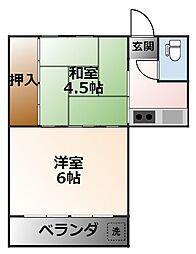 大箇マンション[3階]の間取り