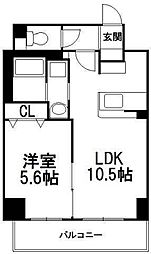 北海道札幌市中央区南一条西17丁目の賃貸マンションの間取り