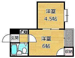 リードマンション[2階]の間取り