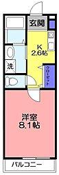 Marina Palace 薬園台[301号室]の間取り