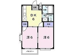 ハイツ吉岡B[1階]の間取り