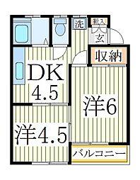 エステートナカヤマ[2階]の間取り