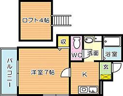 エスポワール祇園[1階]の間取り