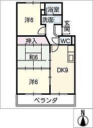 アビタシオン大平[4階]の間取り