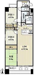 KANENARI和光[6階]の間取り