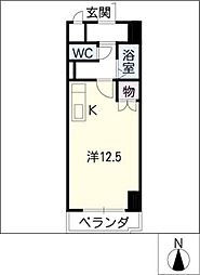 ステーション・ビラ[5階]の間取り