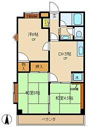 東京都調布市国領町6丁目の賃貸マンションの間取り