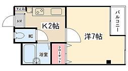 ニューアイコウマンション[202号室]の間取り