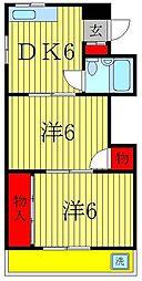 ジュネパレス新松戸第07[6階]の間取り