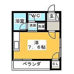 八事スチューデントビル[3階]の間取り