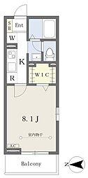 仮)西所沢2丁目計画 3階1Kの間取り