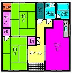 [一戸建] 奈良県天理市荒蒔町 の賃貸【/】の間取り