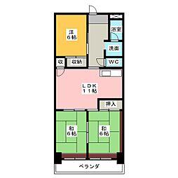 横井ビル[2階]の間取り