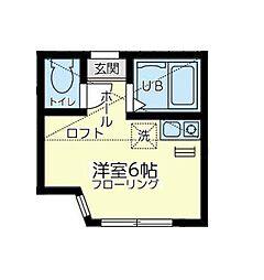 ユナイト 川崎ネイリーザックス[1階]の間取り