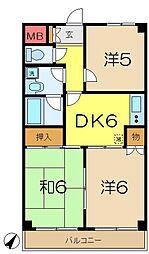 弘明寺パークコート[6階]の間取り