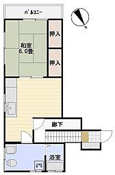 松岡ハイツ[2階号室]の間取り