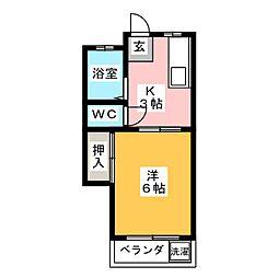 コーポ前田[2階]の間取り