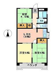 コーポ明円[4階]の間取り