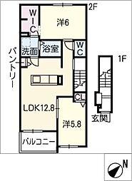 スプリングフィールドIII[2階]の間取り