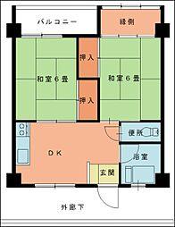 第9上村ビル[4階]の間取り
