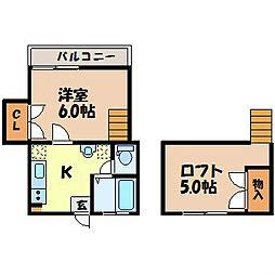 長崎県長崎市三川町の賃貸マンションの間取り