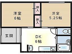 山本貸家[1階]の間取り