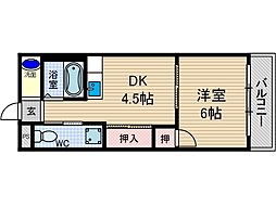 山崎第2マンション[2階]の間取り