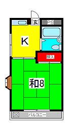 コーポ和樹[1階]の間取り