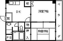 クレセント夙川[403号室]の間取り