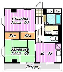 第5荒井マンション[2階]の間取り