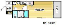 エステムコート神戸西2[5階]の間取り