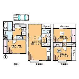[一戸建] 東京都品川区西中延2丁目 の賃貸【/】の間取り