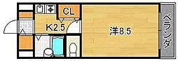 大阪府摂津市千里丘東3丁目の賃貸マンションの間取り